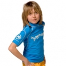 Kurzarm T-Shirt Race azurblau