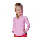 Kapuze Langarm T-Shirt rosa